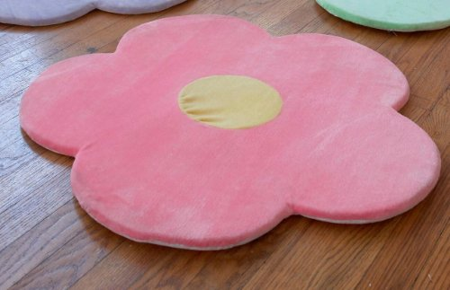 Pink Flower Area Rug for Kids Girls Room, Girls Area Rugs, G