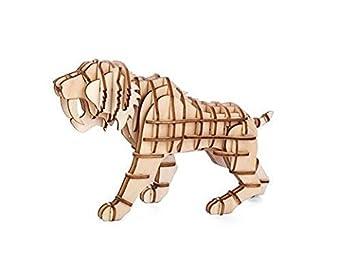 Kikkerland Gg108 Tiger 3d Madera Puzzel Amazon Es Juguetes Y Juegos