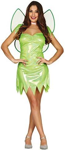FIESTAS GUIRCA Disfraz Brillante Hada alada Verde Mujer Talla l ...
