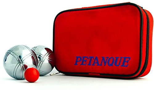 73mm Petanque Set - 6 Boules, 2 Designs, Carrying Case and Target Balls by Petanque America