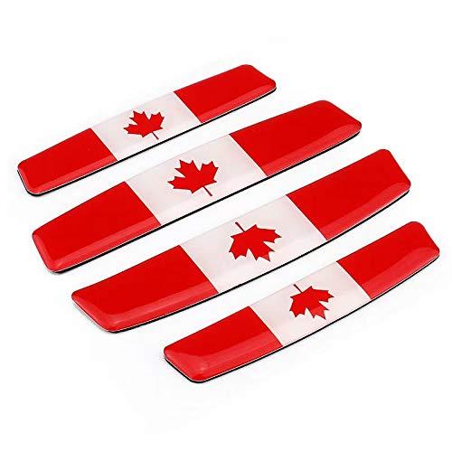 4X Soft Epoxy Resin Canada Flag Maple Leaf Car Door Bumper Corner  Protection Scrach Resistant Trim Sticker Decal Collision-Prevention Emblem  Badges