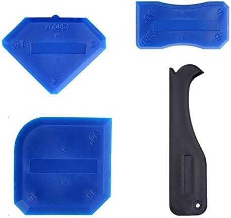 ハイグレードシャベル接着剤美容縫製ツール4セットのガラス接着剤スクレーパーシリコーンスクレーパーガラス接着剤造園ツール
