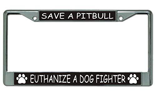 - Save A Pitbull Chrome License Plate Frame