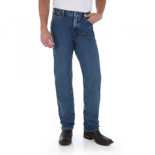 (Wrangler Men's Big & Tall Flame Resistant Original Fit Jean, Stonewash, 36x38)