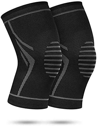 1 PCS Sports Knee Brace Compression Sleeve Elastic Non-Slip Knitting Knee Support Fitness Running Cycling Knee Pad, a