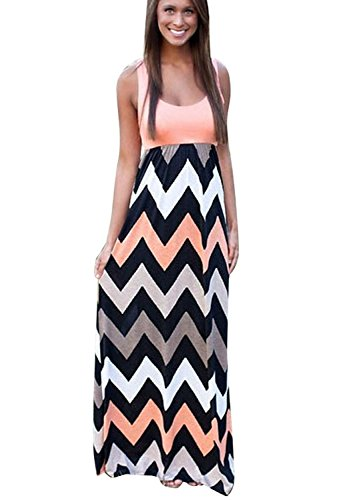 Womens Maxi Boho Summer Long Skirt Evening Cocktail Party Dress - 6