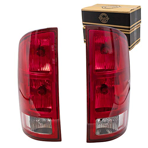 BROCK Driver and Passenger Taillights with Circuit Board Replacement for 2002-2006 Ram 1500 Pickup 55077347AF 55077348AF