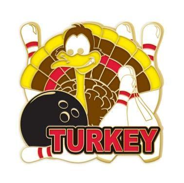 Crown Awards Gold Bowling Lapel Pins - Turkey Bowling Enamel ()