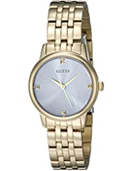 GUESS Womens U0533L2 Dressy Gold-Tone Watch with Genuine Crystals & Self-Adjustable Links