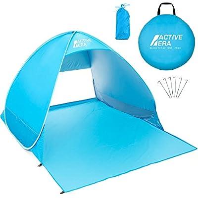 Active Era Pop-Up Strandmuschel - UPF 50+ Strandzelt für UV-Schutz & Windschutz am Strand, inkl. Tragetasche und Heringe…
