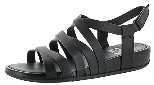 Gladiator Fitflop Leather Black Sandals Lumy xO8v8nTW1p
