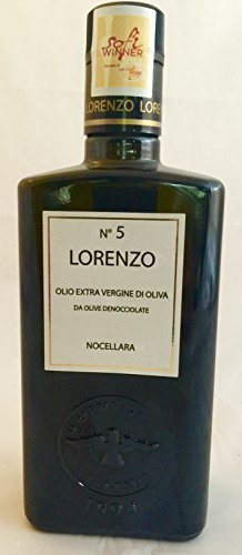 Barbera Lorenzo #5 (6 pack) Extra Virgin Olive Oil 500ml bottles from Sicily, Italy by Barbera