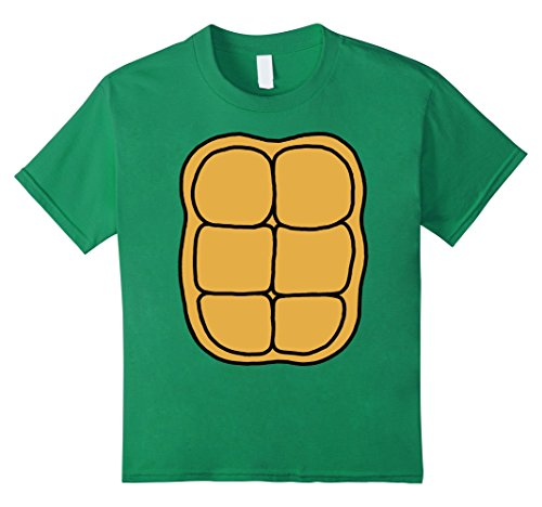 Kids Turtle Shell Shirt KIDS DIY Halloween Costume FRONT + BACK 12 Kelly Green