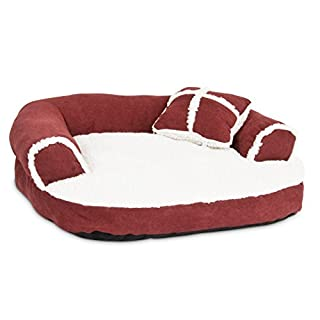 Petmate Aspen Pet Sofa Bed with Pillow for Comfort and Support - One Size - Assorted Colors