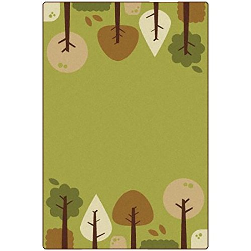 Trees Tranquil (Carpets for Kids 33754 Kidsoft Tranquil Trees, Wolf Grey)