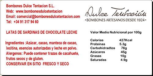 SARDINAS DE CHOCOLATE LECHE 7 PZS/LATA PACK 4X100g Total 400g (100): Amazon.es: Alimentación y bebidas