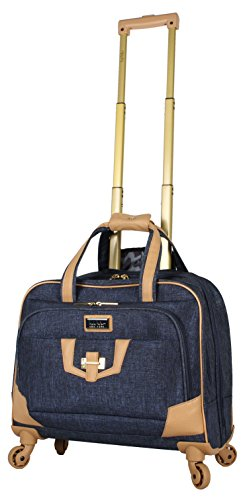 Womens Rolling Briefcase (Nicole Miller New York Taylor Carry On Spinner Briefcase (Navy))