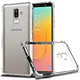 Galaxy J8 2019 Case, Zeking Slim Thin Anti-Scratch Clear Flexible TPU Silicone with Four Corner Bumper Protective Case Cover for Samsung Galaxy J8 (2018)(Transparent)