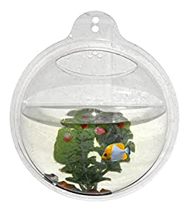 "Abyss Pets Wall Mounted Hanging Fish Bowl Aquarium Tank for Gold Fish and Beta Fish, 10"""