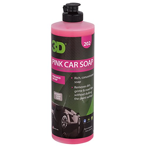 3D Pink Car Soap - 16 oz. | Car Wash & Cleaner | Made in USA | All Natural | No Harmful Chemicals (Best Car Valeting Products)