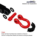 AUTMATCH Pack of 2 D-Ring Shackle Isolators Washers