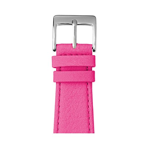 Roobaya | Premium Nappa Leather Apple Watch Band in Pink | Includes Adapters matching the Color of the Apple Watch, Case Color:Stainless Steel, Size:38 mm