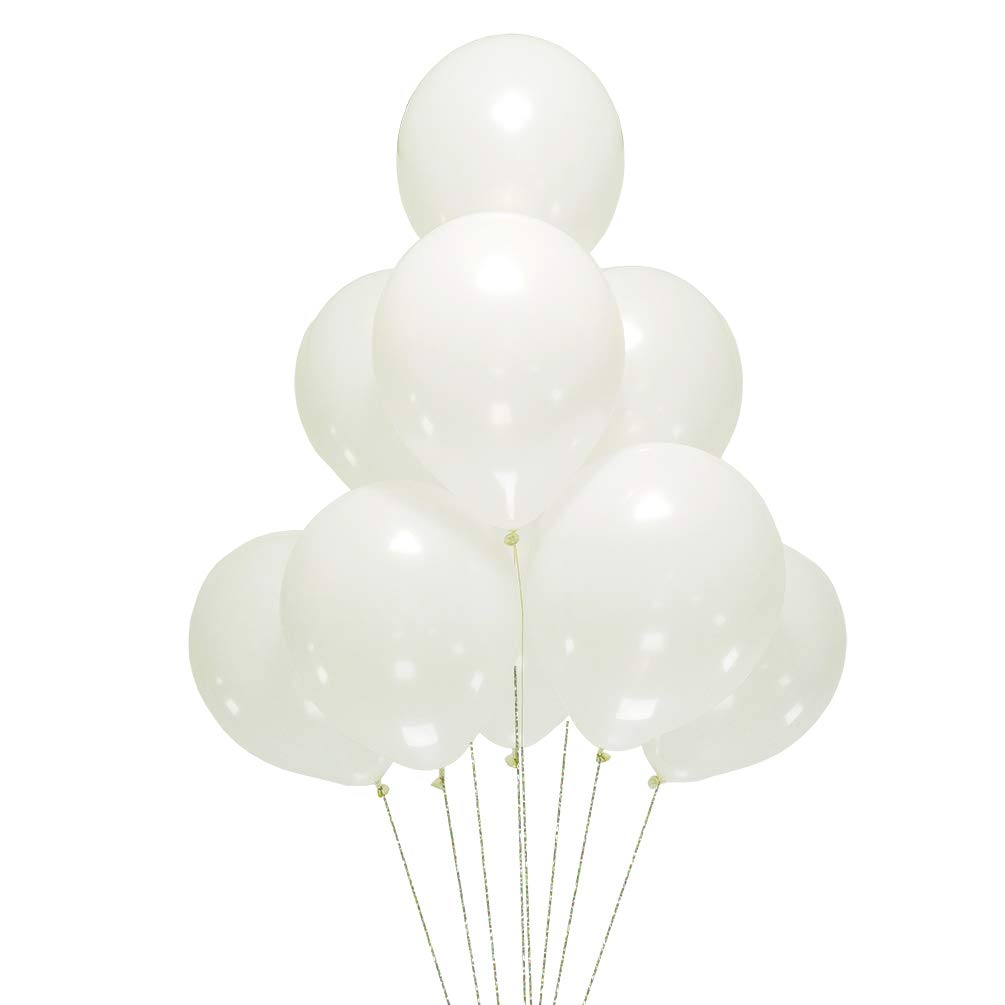 AZOWA Silver Latex Balloons 12 inch Grey Party Balloon Decorations Pack of 100 Great for Birthday Party Wedding Baby Shower Anniversary Celebration