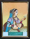 Jam & Traditional Lady, Gem Art Painting, Home Décor & Gift