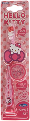 Hello Kitty Suction Toothbrush With Cap - Travel Kit