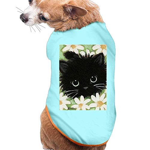 - Avagea Dog Clothes, Coat, Costume,Sweater, Vest, Dog Cat Pet Shirt Clothes Puppy Vest Soft Thin Black Cat in Daisy 3 Sizes 4 Colors Available
