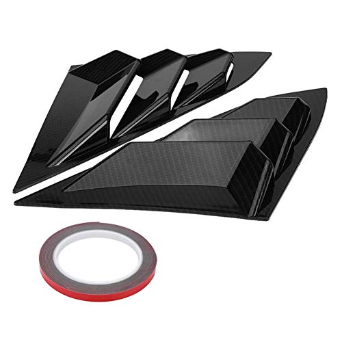 Acouto Scoop Left & Right Side Window Louver Frame Cover Vent For Honda Civic 2016-2018(Carbon Fiber)