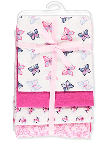 Hudson Baby Unisex Baby Cotton Flannel Receiving Blankets, Butterflies, One Size