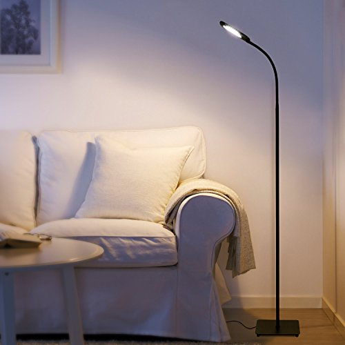 -[ Aglaia Floor Lamp Dimmable, 6.8W LED Touch Lamp with 3 Level Brightness and Eye-Cared Light, Nat