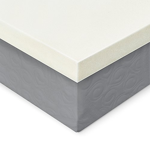 memory foam mattress topper 2 inches of 100 real visco import it all. Black Bedroom Furniture Sets. Home Design Ideas