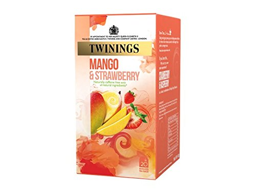 Twinings Tea of London Strawberry & Mango Fruit Flavoured Infusion (Sachet X20) (Twinings Fruit Strawberry)