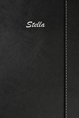 Stella: Weekly Meal Planner Simulated Black Leather Track And Plan Your Meals 52 Week Food Planner / Diary / Log / Journal / Calendar Meal Prep And Planning Grocery - Track Stella Leather