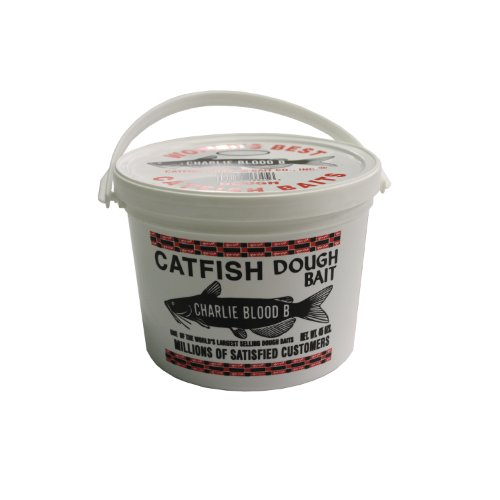 Catfish Charlies CB-6-45 Dough Bait Blood Bucket, White, 45-Ounce