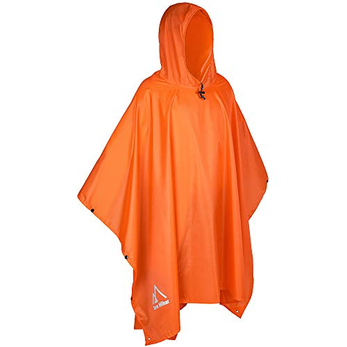 (Terra Hiker Rain Poncho, Waterproof Raincoat with Hoods for Outdoor Activities )