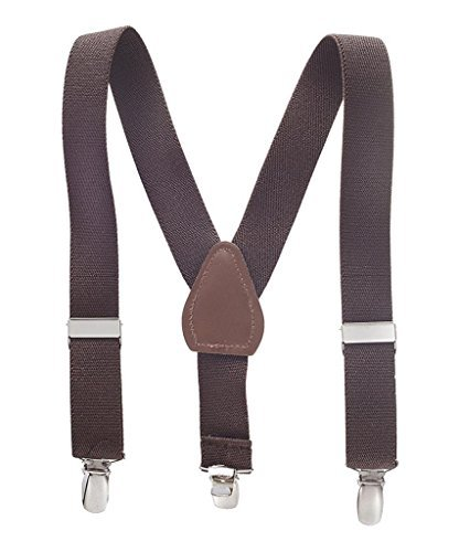 Buyless Fashion Kids And Baby Adjustable Elastic Solid Color 1 inch Suspenders - Brown - Size 30 (Kids Fashion compare prices)