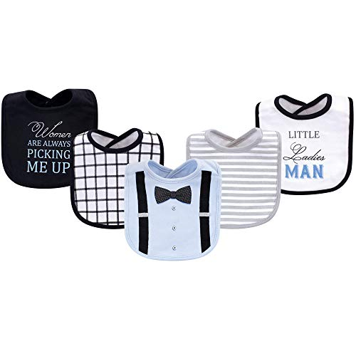 (Little Treasure Kid's Cotton Drooler Bib, 5 Pack Accessory, ladies Man 5 Pack, 0-9 Months (9M))