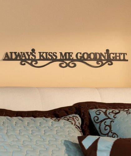 Metal Cutout Wall Decor Always Kiss Me Goodnight - Wall Decor ...