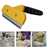 Professional Pet Shedding Grooming Tool Brush Comb Rakes Size L.