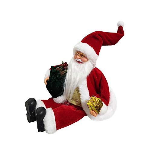 Fan-Ling A Christmas Toy for Santa Claus, a with a, Cute Decor Ornaments,Cute Doll Christmas Doll Creative Christmas Tree Decoration,47 x 20 x11 cm (B) (Table Ideas Glass Bases)