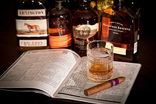 Large Format Canvas or Unframed Print, Fine Art Print of Bourbon Whiskeys Cigar and Racing Form Wall Decor, Woodford Reserve, Buffalo Trace, and Bulleit Whiskeys