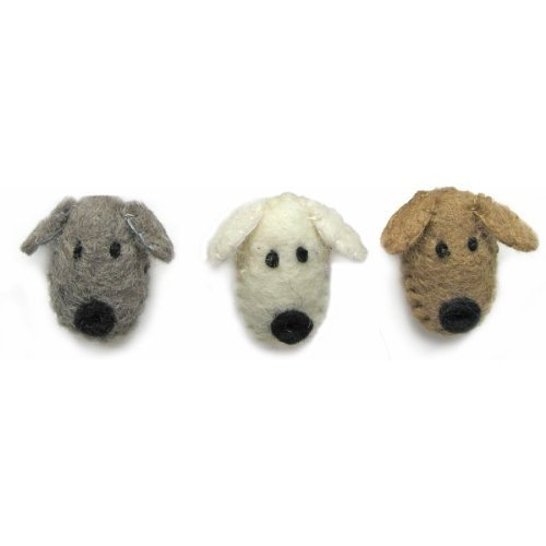 Dimensions Crafts 72-74033 Wool Dog Heads for Needle Felting ()