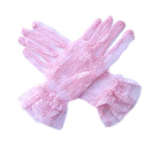 SACASUSA (TM) Short Wrist Sexy Bridal Wedding Lace Formal Gloves with 27 colors