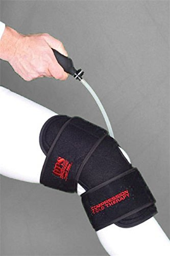 Ice Cold Therapy Reusable Knee Support Brace, with Air Pump - Provides Knee Compression - Increases Cold and Reduces Inflammation and Swelling (Pump Therapy)