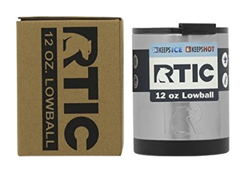 RTIC Stainless Steel Lowball with Lid 12oz Set of 2