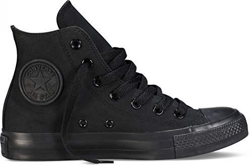 Converse Unisex Chuck Taylor All Star High Top Sneakers (6.5 D(M) US, Black Monochrome) (Top Taylor High Chuck Converse)