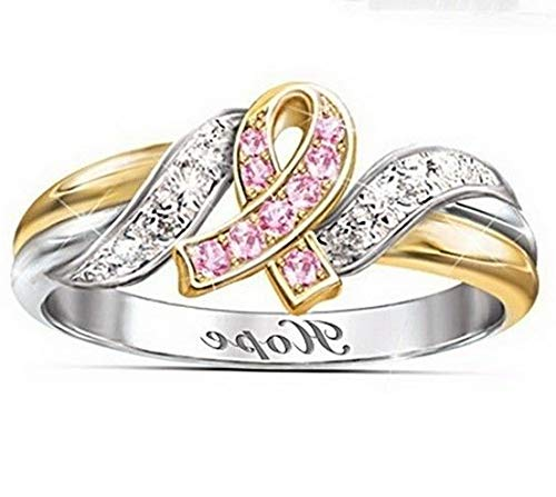 (Tomikko 18K Rose Gold Fil Pink Sapphire Woman Wedding Party Ring Gift Size 6-10 | Model RNG - 13826 | 7)